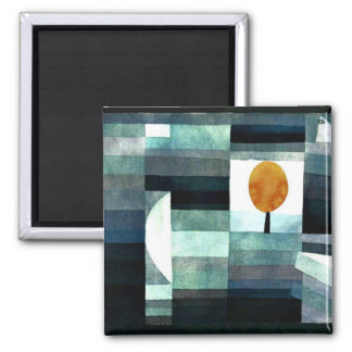 Klee: The Messenger of Autumn 2 Inch Square Magnet