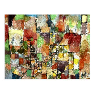 Klee - Two Country Houses Postcard
