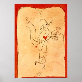Klee - un alcohol sirve un pequeño desayuno póster