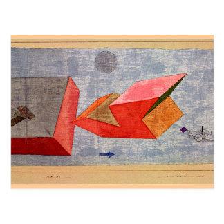 Klee - viaje corto del mar tarjeta postal