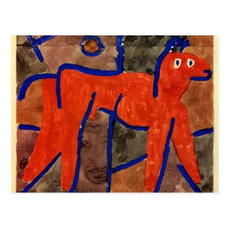 Klee - Wildes Tier in Bann Postcard