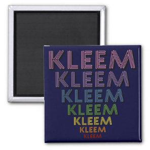 Kleem Chakra Colors Magnet