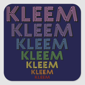 Kleem Chakra Colors Square Sticker