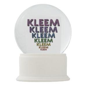 Kleem Mantra Snow Globe