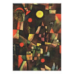 Klee's famous painting, Full Moon Poster