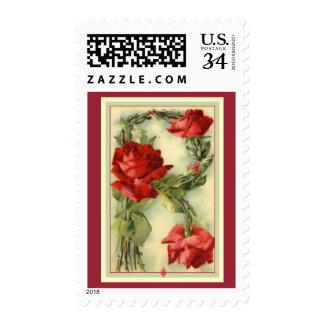 Klein Alphabet Red Roses Postage