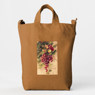 Klein Delicious Purple Grapes on the Vine Duck Bag