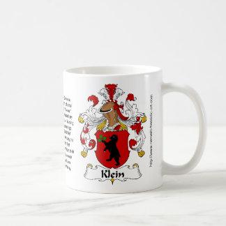 Klein Family Crest on a mug