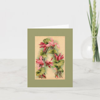 Klein Flower Alphabet  NOTE CARD DKGR