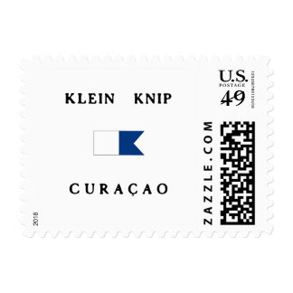 Klein Knip Curacao Alpha Dive Flag Postage Stamps