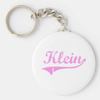 Klein Last Name Classic Style Basic Round Button Keychain