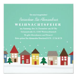 Kleine Häuser Winter-Einweihungsparty einladen Card