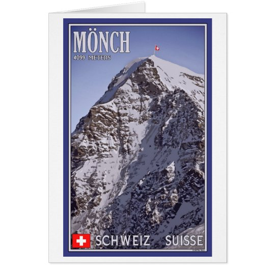 Kleine Scheidegg - el Mönch Tarjeta De Felicitación
