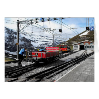 Kleine Scheidegg railway station in Switzerland Card