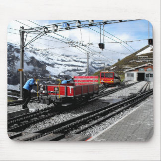 Kleine Scheidegg railway station in Switzerland Mouse Pad