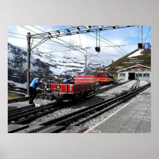 Kleine Scheidegg railway station in Switzerland Poster
