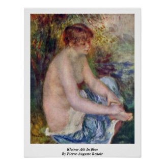 Kleiner Akt en azul de Pierre-Auguste Renoir Posters