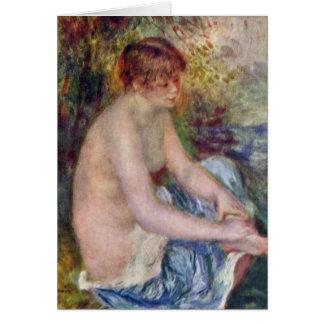 Kleiner Akt en azul de Pierre-Auguste Renoir Felicitación
