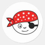 Kleiner Pirat Runde Aufkleber