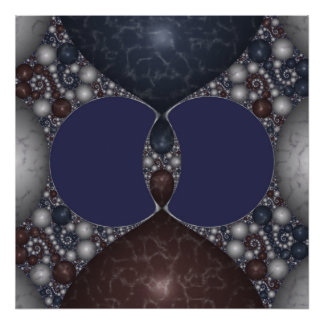 Kleinian Marble Inlay IV Poster