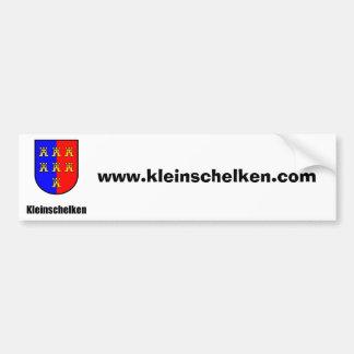 Kleinschelken ciudadano de siete Sajonia escudo de Etiqueta De Parachoque