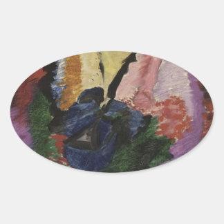 Kleurstudie by Jacoba van Heemskerck Oval Sticker