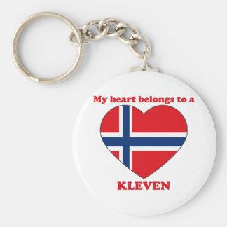Kleven Basic Round Button Keychain