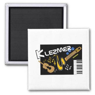 Klezmer 2 Inch Square Magnet