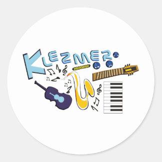 Klezmer Classic Round Sticker