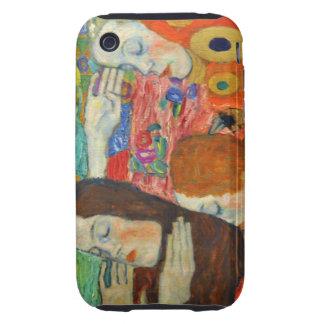 Klimt abandonó esperanza tough iPhone 3 protectores