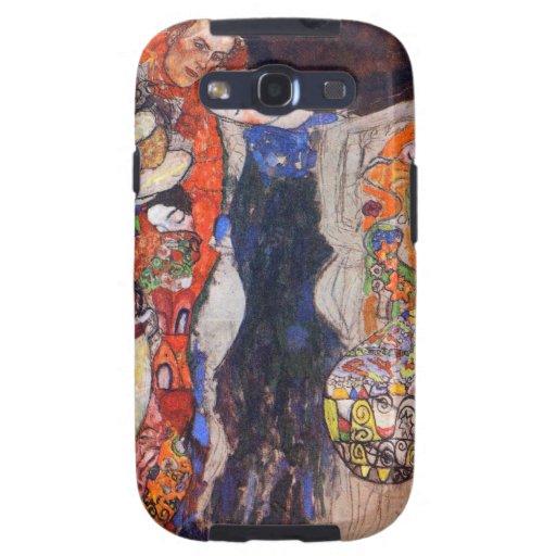 Klimt adorna a la novia con velo y la guirnalda galaxy s3 fundas