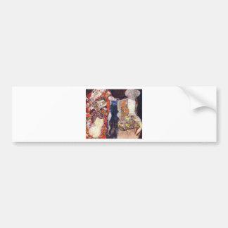 Klimt adorna a la novia con velo y la guirnalda pegatina para auto