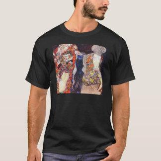 Klimt adorna a la novia con velo y la guirnalda playera
