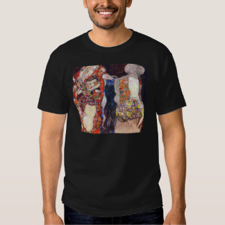 Klimt adorna a la novia con velo y la guirnalda polera