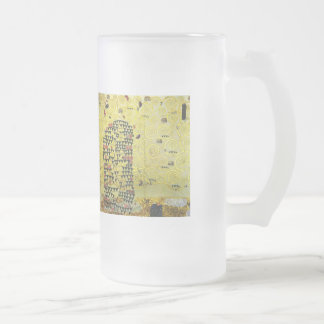 Klimt and Werkvorlage zum Stocletfries Frosted Glass Beer Mug