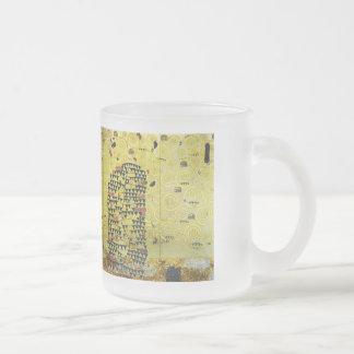 Klimt and Werkvorlage zum Stocletfries Frosted Glass Coffee Mug