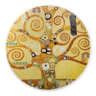 Klimt, árbol de la vida pomo de cerámica
