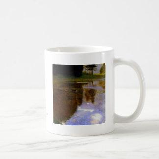 Klimt art painting quiet pond in the park appeal coffee mug