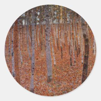 Klimt Beechwood-Forest Classic Round Sticker