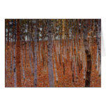 Klimt Beechwood-Forest Greeting Cards