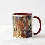 Klimt collage mug maroon