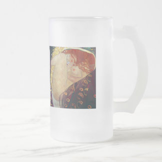Klimt_Danae Frosted Glass Beer Mug