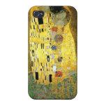 Klimt el beso iPhone 4 protectores