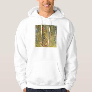 Klimt Farm Garden with Crucifix Hoodie