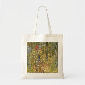 Klimt Farm Garden with Crucifix Tote Bag
