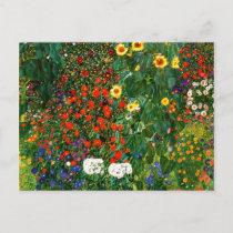 Klimt - Farm Garden with Sunflowers Postcard