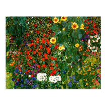 Klimt - Farm Garden with Sunflowers Postcard