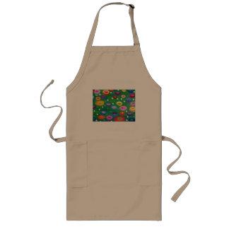 Klimt flowers in grass long apron