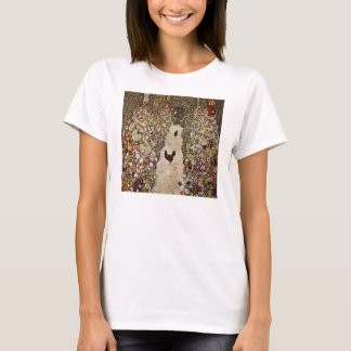 Klimt Garden With Roosters T-shirt