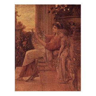 Klimt, Gustav Sapho 1888-1890 Technique ?l auf Lei Postcard
